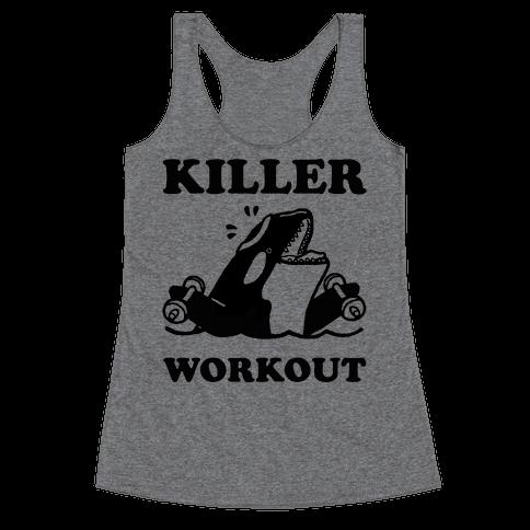 Killer Workout (Orca) Racerback Tank Top