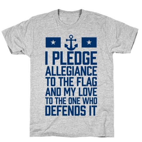 I Pledge Allegiance To The Flag (Navy Tank) T-Shirt