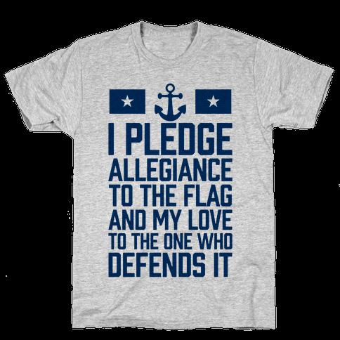 I Pledge Allegiance To The Flag (Navy Tank) Mens T-Shirt
