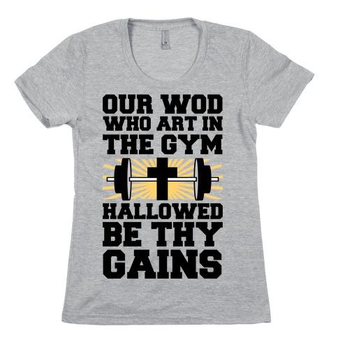 The Fitness Prayer Womens T-Shirt