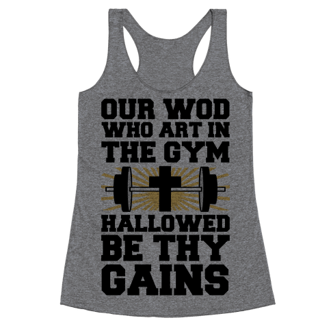 The Fitness Prayer Racerback Tank Top