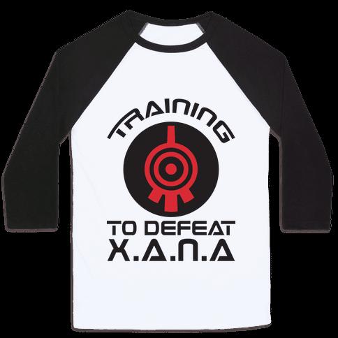 Training To Defeat XANA Baseball Tee