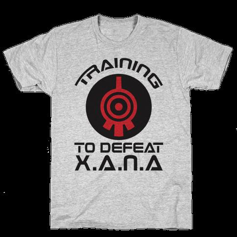 Training To Defeat XANA Mens T-Shirt