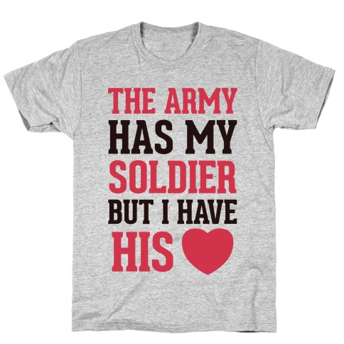 My Soldier's Heart ( Military T-Shirt) Mens T-Shirt