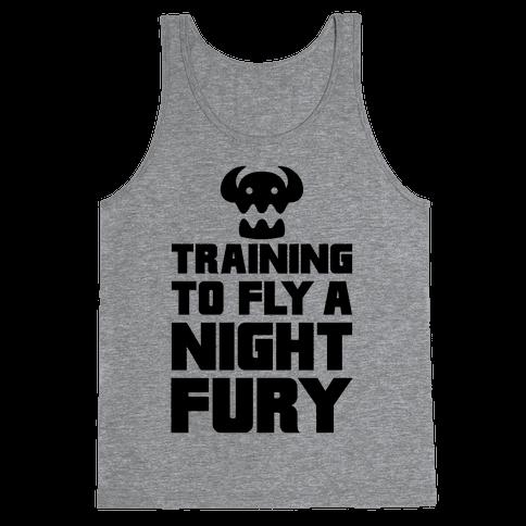 Training To Fly A Nightfury Tank Top