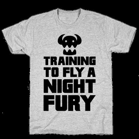 Training To Fly A Nightfury Mens T-Shirt