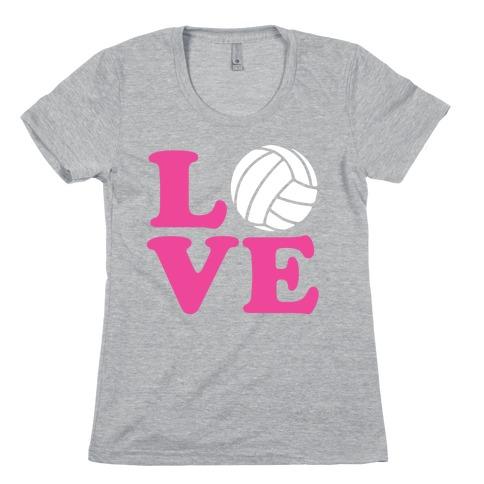 Love Volleyball Womens T-Shirt