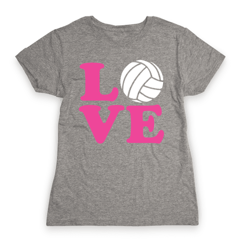 Love Volleyball Womens T-Shirt