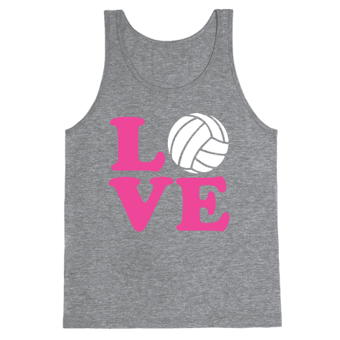 Love Volleyball Tank Top
