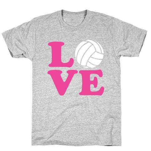Love Volleyball Mens/Unisex T-Shirt