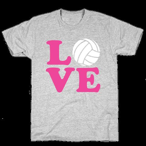 Love Volleyball Mens T-Shirt