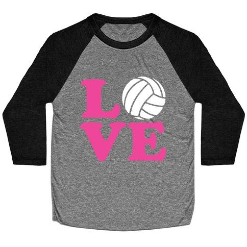 Love Volleyball Baseball Tee