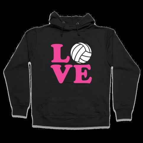 Love Volleyball Hooded Sweatshirt
