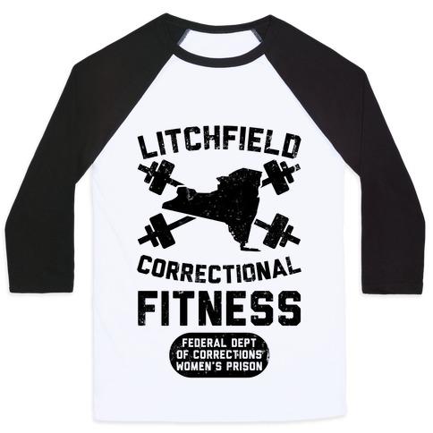 Litchfield Correctional Fitness Baseball Tee