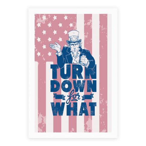 Turn Down For What Uncle Sam Poster