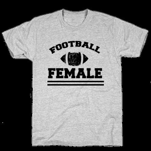 Football Female Mens T-Shirt