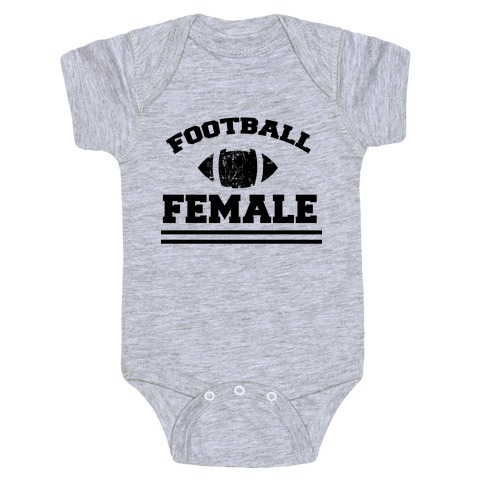 Football Female Baby Onesy