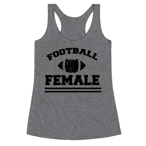 Football Female Racerback Tank Top