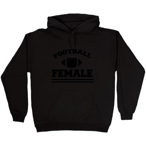 Football Female Hooded Sweatshirt