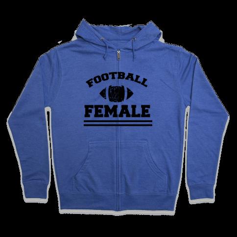 Football Female Zip Hoodie