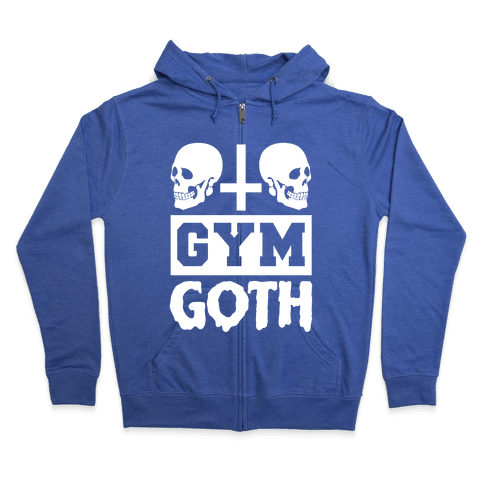 Gym Goth Zip Hoodie