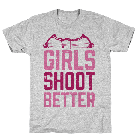 Girls Shoot Better (Bow) Mens T-Shirt