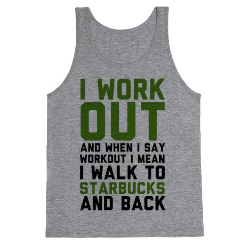 I Workout. Tank Top