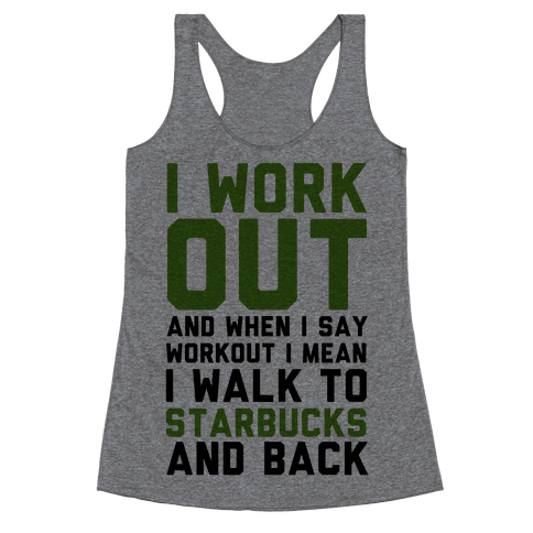 I Workout. Racerback Tank Top