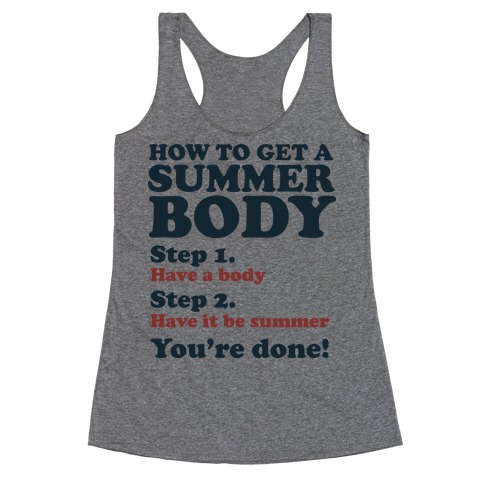 How to Get a Summer Body Racerback Tank Top
