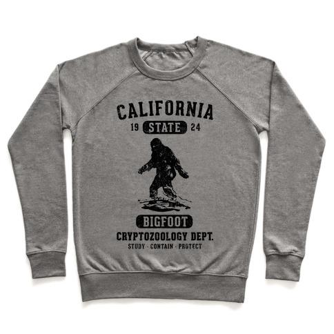 California Bigfoot Cryptozoology Pullover
