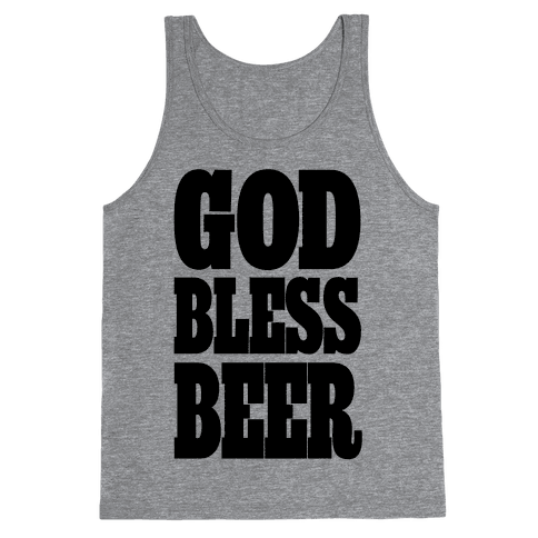 God Bless Beer Tank Top