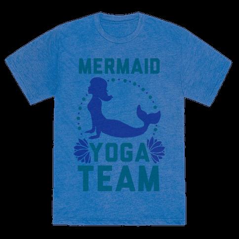 Human Mermaid Yoga Team Clothing Tee