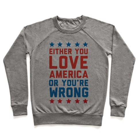 Either You Love America Or You're Wrong Pullover