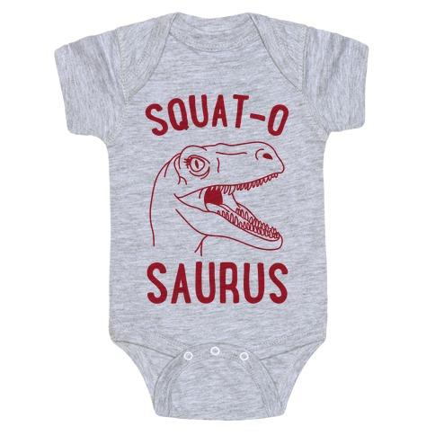 Squat-O-Saurus Baby Onesy