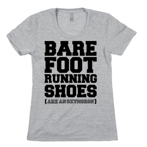 Barefoot Running Womens T-Shirt