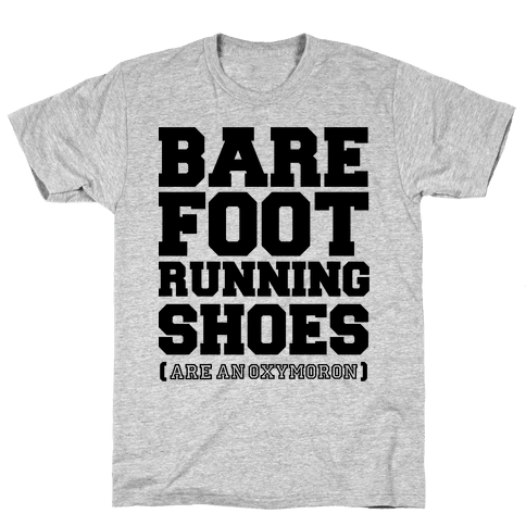 Barefoot Running Mens T-Shirt