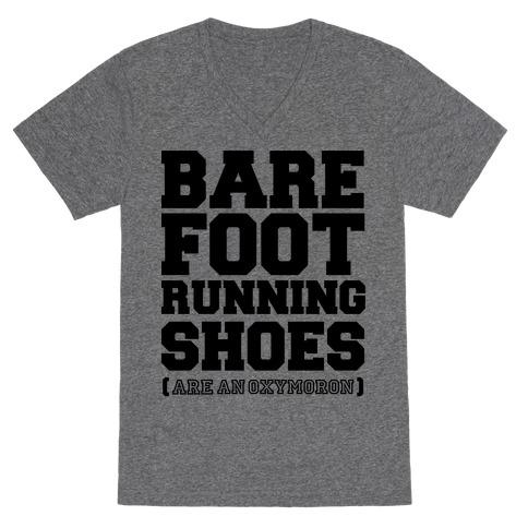 Barefoot Running V-Neck Tee Shirt
