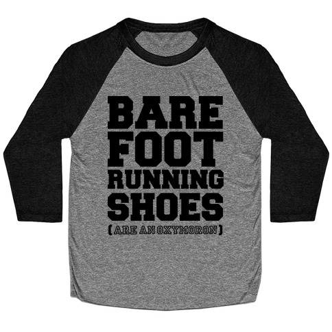 Barefoot Running Baseball Tee