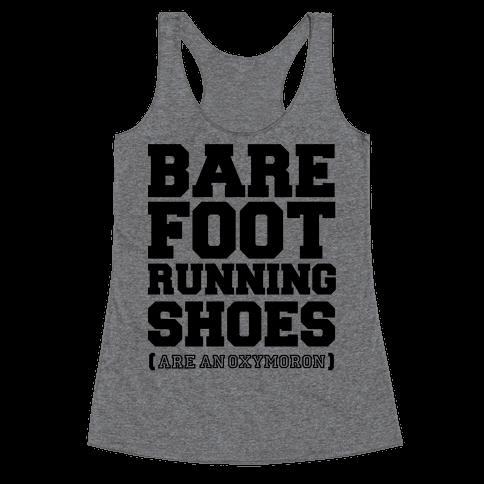 Barefoot Running Racerback Tank Top