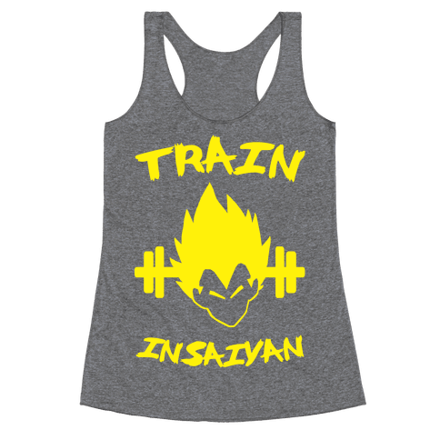 Train InSaiyan Racerback Tank Top