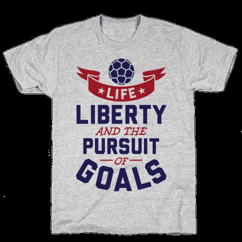 The Pursuit Of Goals Mens T-Shirt