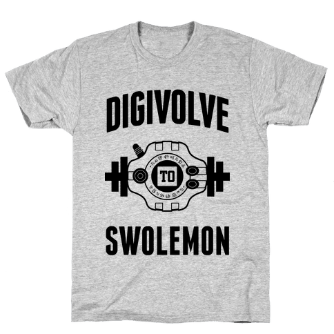 Digivolve to Swolemon! Mens T-Shirt