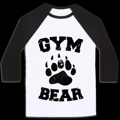 Gym Bear Baseball Tee