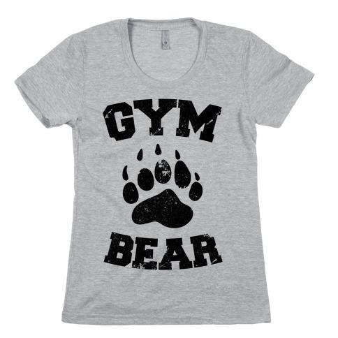 Gym Bear Womens T-Shirt