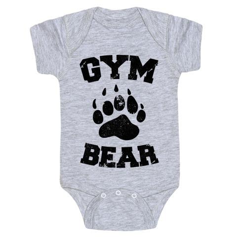 Gym Bear Baby Onesy