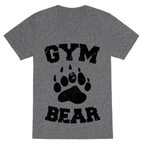 Gym Bear V-Neck Tee Shirt