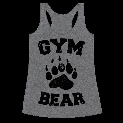 Gym Bear Racerback Tank Top