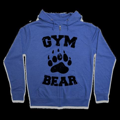 Gym Bear Zip Hoodie