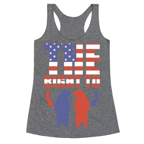 The Right to Bear Arms (Political) Racerback Tank Top