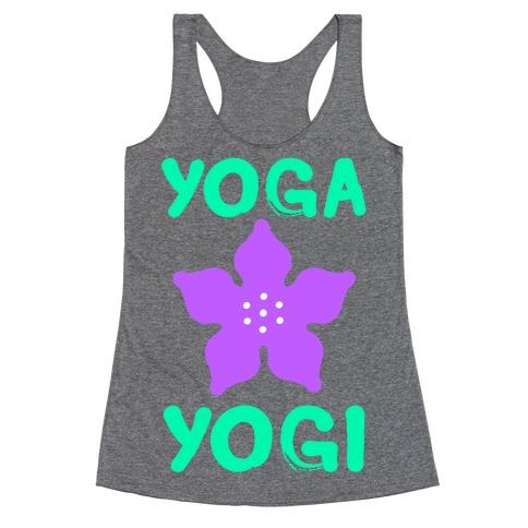 Yoga Into A Yogi Racerback Tank Top